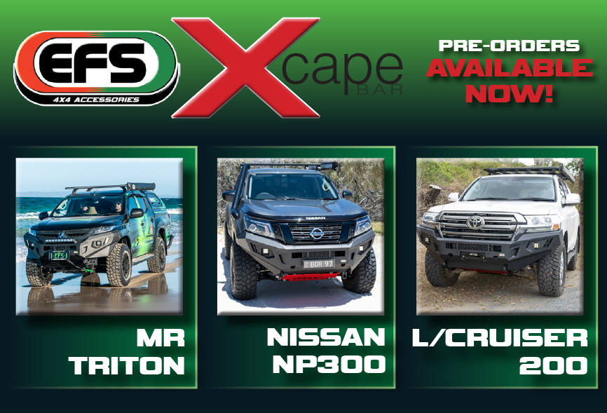 MR TRITON, NP300 & LANDCRUISER 200 XCAPE BAR PRE-RELEASE