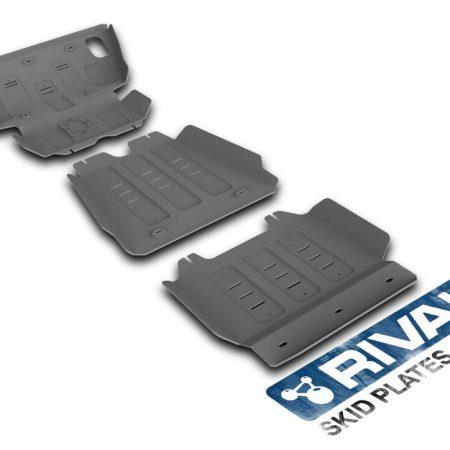 Toyota Hilux ab 07 Rival Unterfahrschutz Kit 6mm Alu / 3 Teile Set 23333.5790.1/6